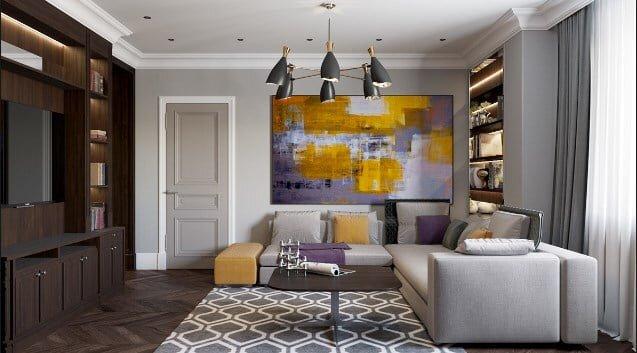 2020 Etkileyici Modern Salon Dekorasyonları