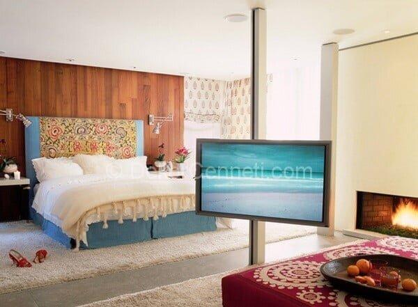 modern ve klasik karışımı yatak odası dekorasyonu