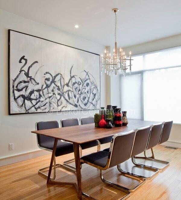 modern yemek odası dekorasyonu,