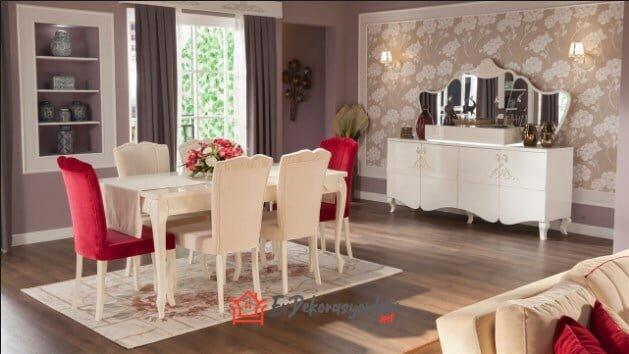 mondi mobilya elegance yemek odasi takimi modeli
