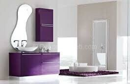 mor banyo dolabı