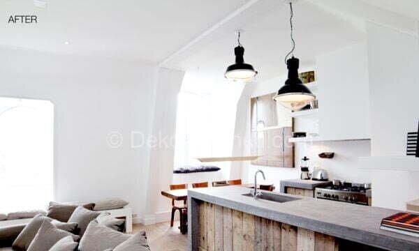 mutfak dekorasyonu öncesi ve sonrası resimleri