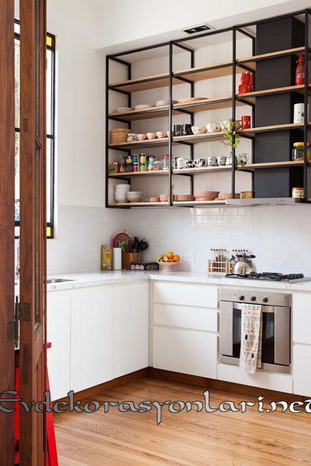 2020 Kullanışlı Ve Dekoratif Açık Raflı Mutfak Dekorasyonları