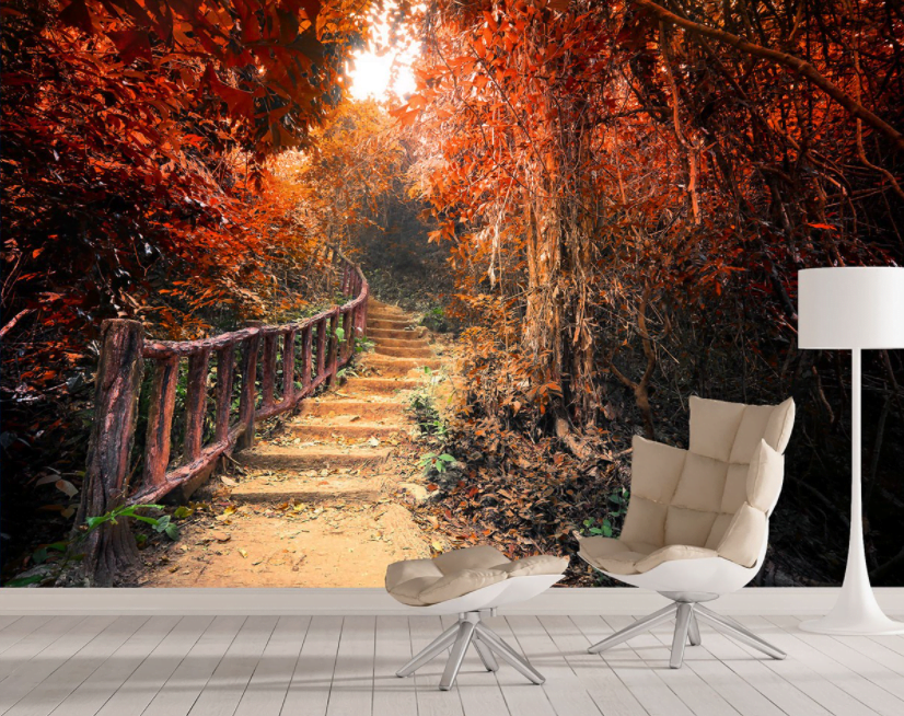 Orman Desenli Duvar Kâğıdı Modelleri