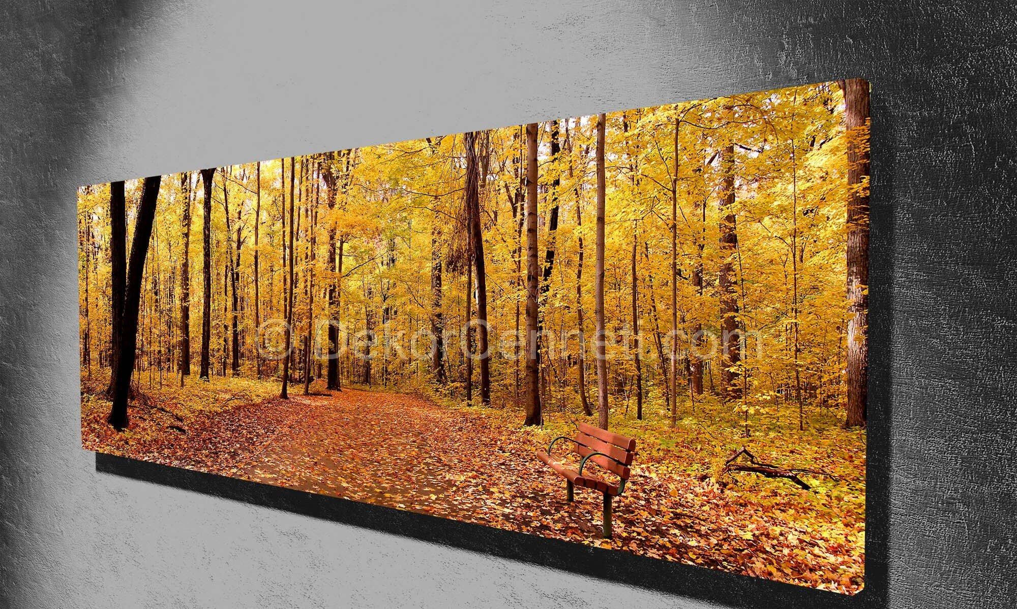 ormanda-sonbahar-panorama-canvas-tablo