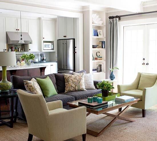 oturma odasında yeşil