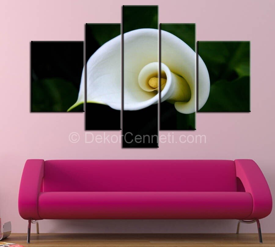 parça çiçekli canvas tablo