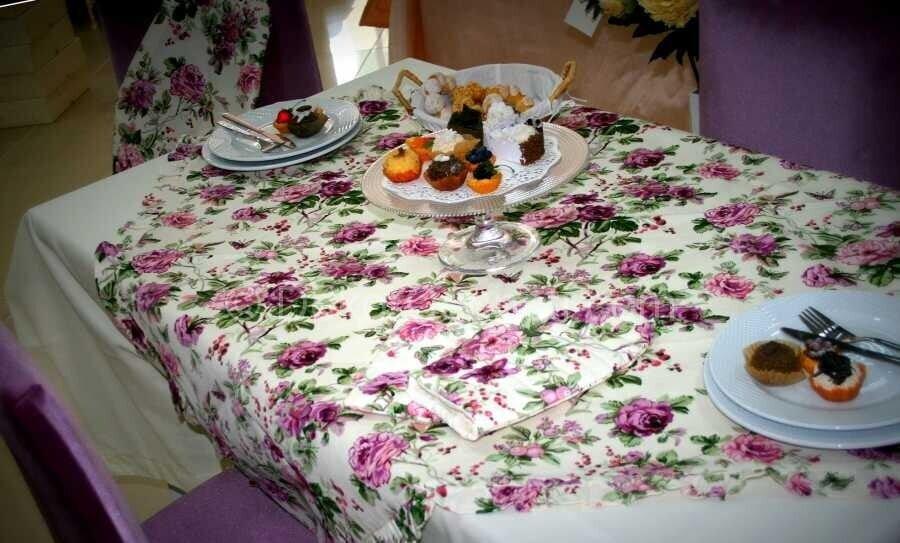 pembe mutfak masa örtüsü