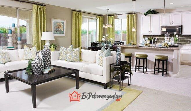 rahat acik mutfak dekorasyon modeli