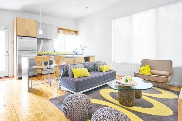 renkli amerikan mutfak dekorasyonu