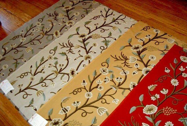 Crewel Fabric, Catania Silks, Pattern: Kasmir