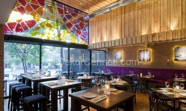 renkli restoran dekorasyonu1
