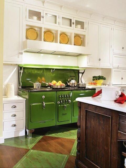 renkli retro mutfak dekorasyon fikirleri