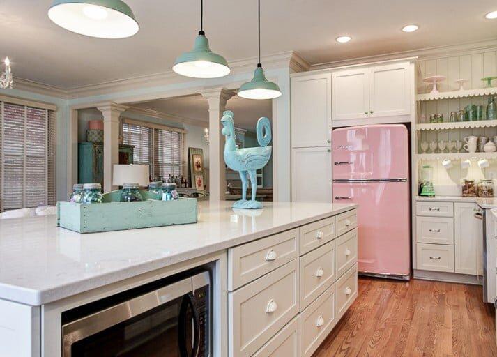 2019 Renkli Retro Mutfak Dekorasyonları