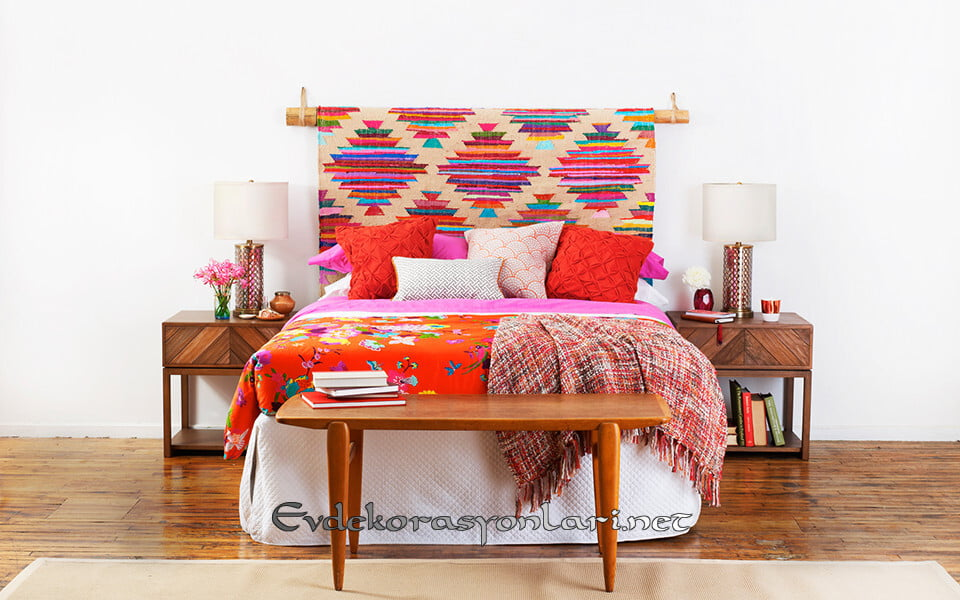 renkli yaratici yatak basi fikirleri