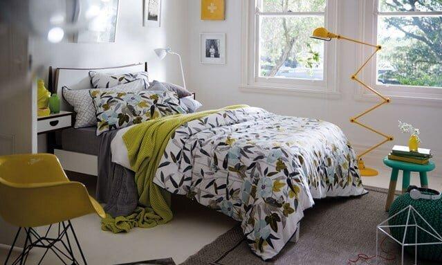 renkli yatak odası dekorasyonu