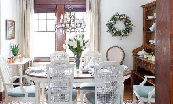 retro-beyaz-yemek-odasi-takimlari