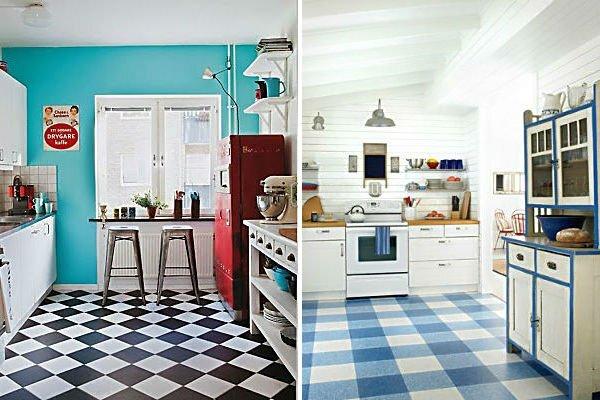 retro mutfak dekorasyon modelleri