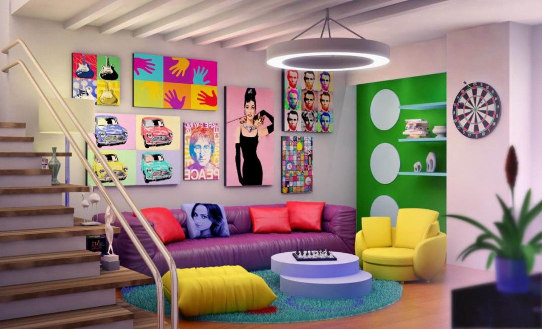 Retro Salon Dekorasyonu