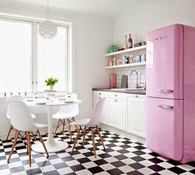 retro tarzi mutfak dekorasyonlari