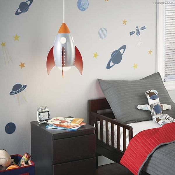 roket erkek cocuk odasi avize modeli