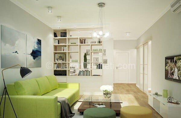 sade oturma odası dekorasyonu