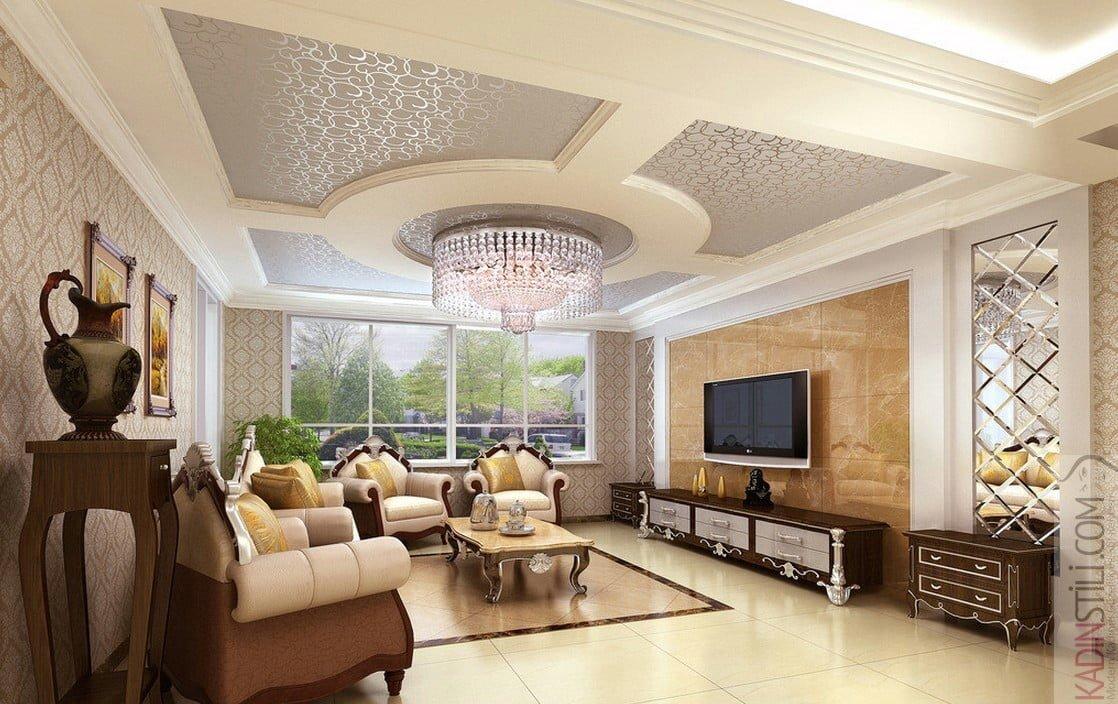 Salon İçin Asma Tavan Dekorasyonu