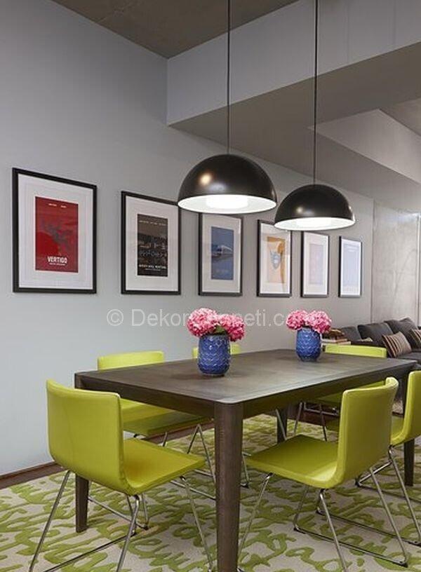 sarı kahve yemek odası