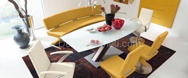 sarı yemek odası dekorasyonu