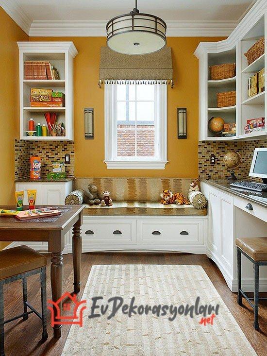 sedirli mutfak dinlenme kosesi dekorasyonu