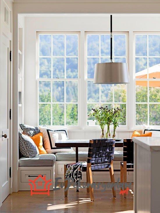sedirli mutfak dinlenme kosesi dekorayon modeli