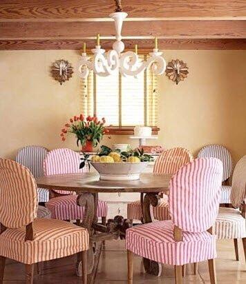 sevimli yemek odası dekorasyonu
