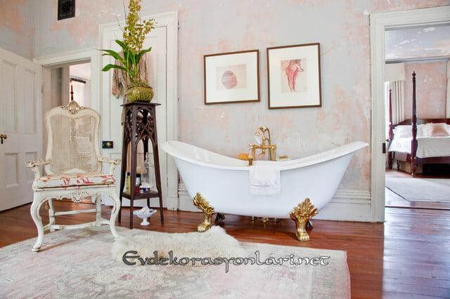 2019 Romantik Shabby Chic Banyo Dekorasyonları