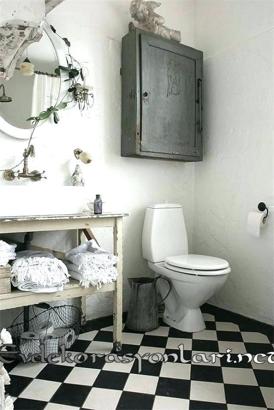 shabby chic banyo dekorasyonlari 2019