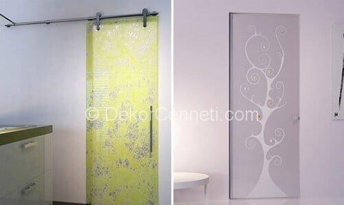 Şık cam kapı detayı Galeri
