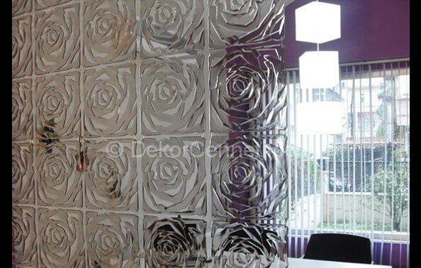 Şık dekoratif duvar paneli uygulama Görselleri