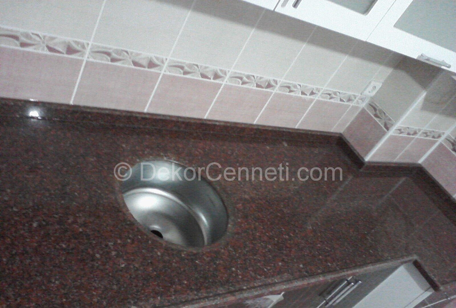 Şık granit mermer mutfak tezgahı Görselleri