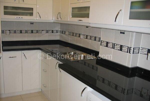Şık granit mutfak tezgah modelleri Modelleri