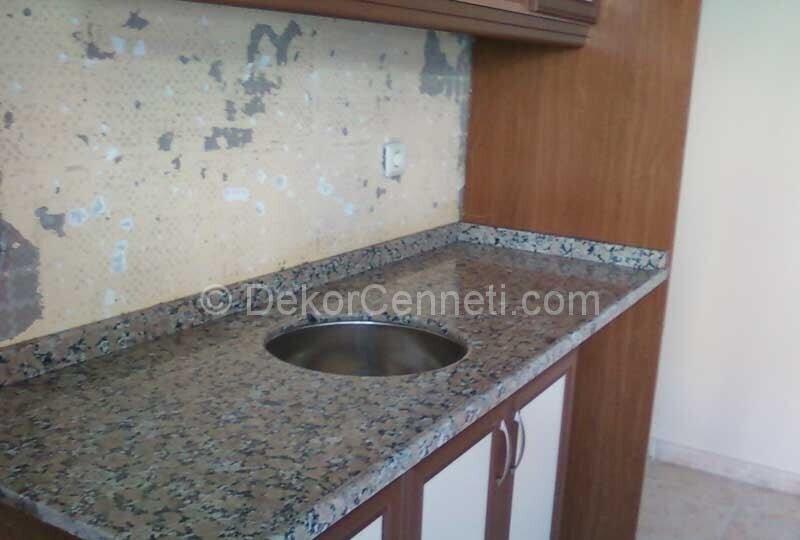 Şık granit mutfak tezgahı kanserojen mi Galerisi