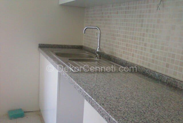 Şık granit mutfak tezgahı parlatma Modelleri