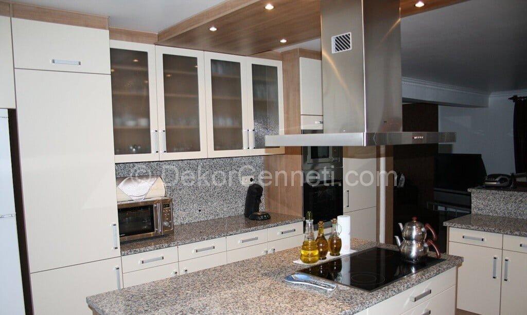 Şık granit mutfak tezgahı zararlımı Görselleri