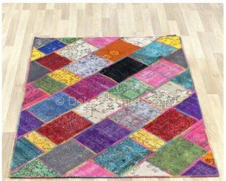 Şık patchwork halı hepsiburada Fotoları