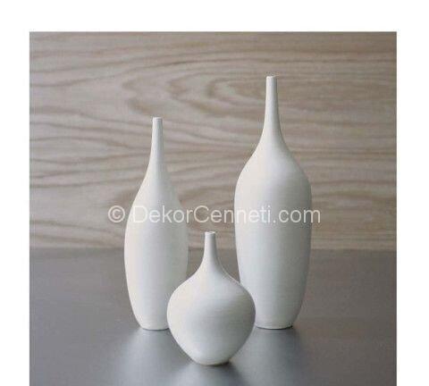 Şık uzun seramik vazo modelleri Fotoları