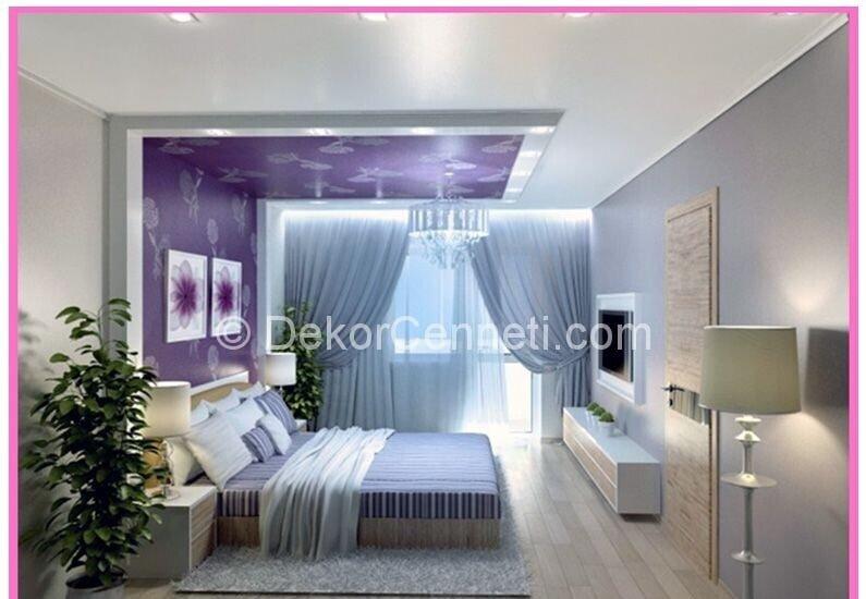 Şık yatak odası asma tavan Galeri
