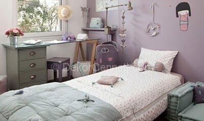 Şık yatak odası dinlendiren renkler Fotoları