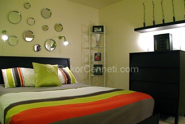 Şık yatak odası mobilyası hangi renk olmalı Resimleri