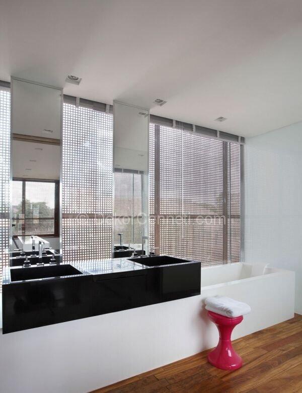 siyah beyaz banyo dekorasyon örnekleri