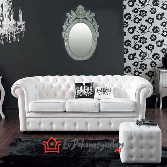 siyah beyaz etkileyici ev dekorasyonlari
