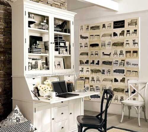 siyah beyaz ofis dekorasyonu