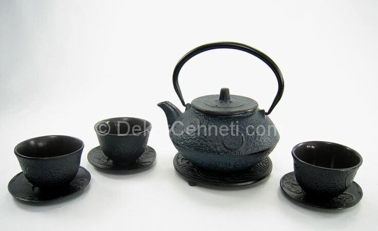 siyah çay takımı